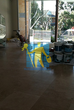 extra large porcelain floor tiles after cleaning empty room with polisher melbourne