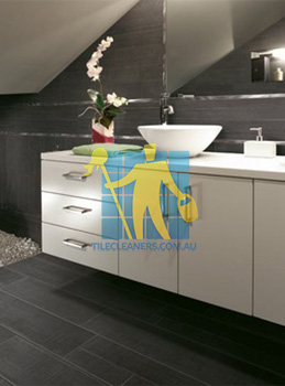 traditional bathroom with barrique series noir wood plank porcelain melbourne
