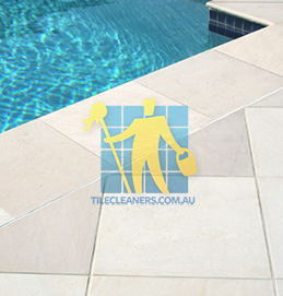 outdoor sandstone tile pool snow white melbourne
