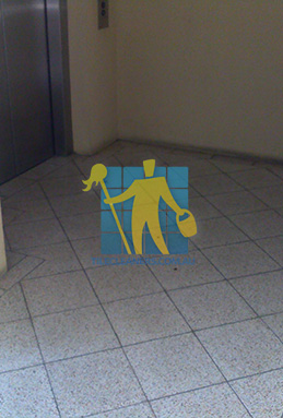 terrazzo tiles dirty floor entrance lift melbourne